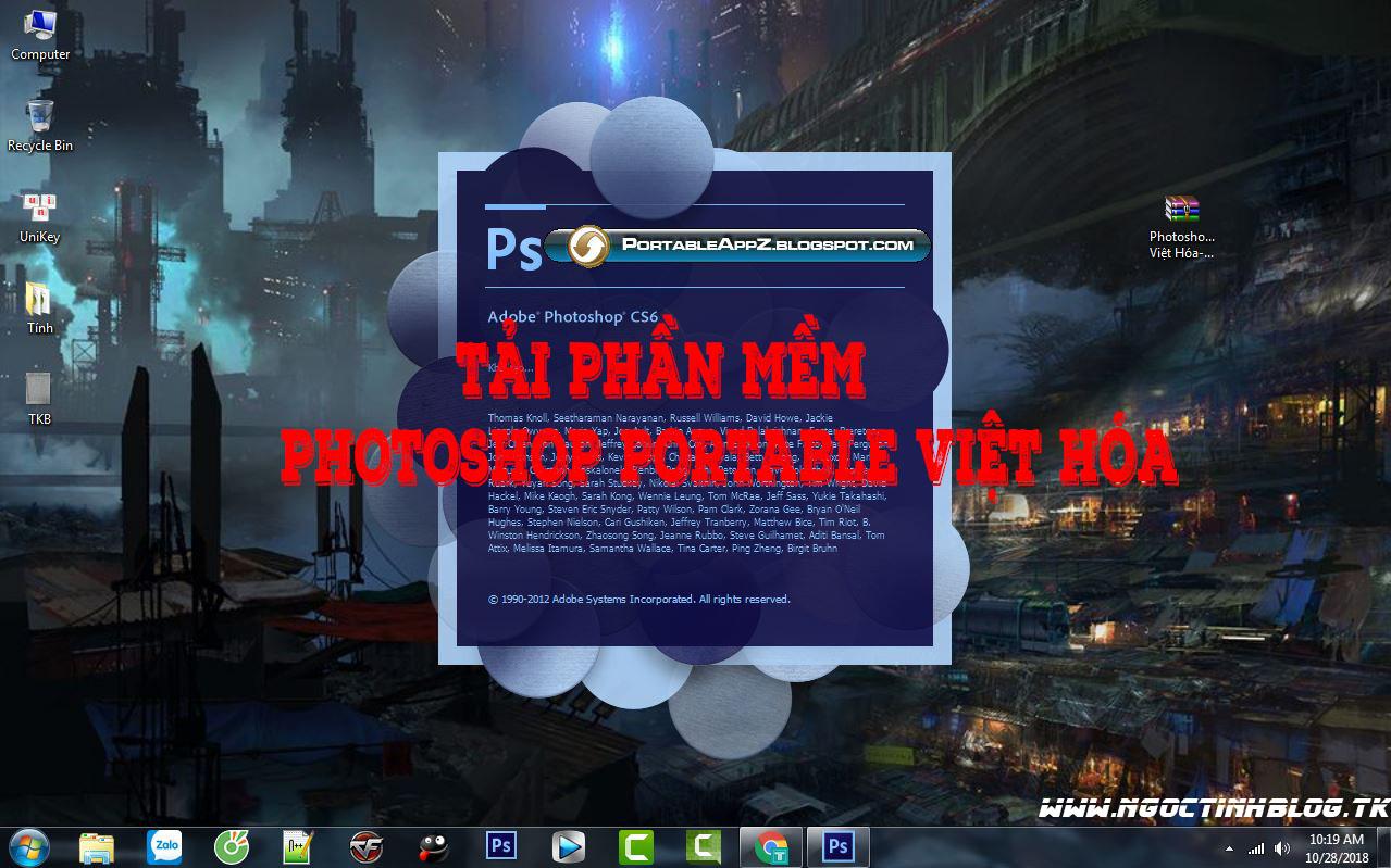 Tải Phần Mềm Photoshop Portable CS6 Việt Hóa
