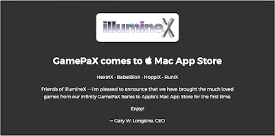 image of illumineX logo with GamePaX announcement text