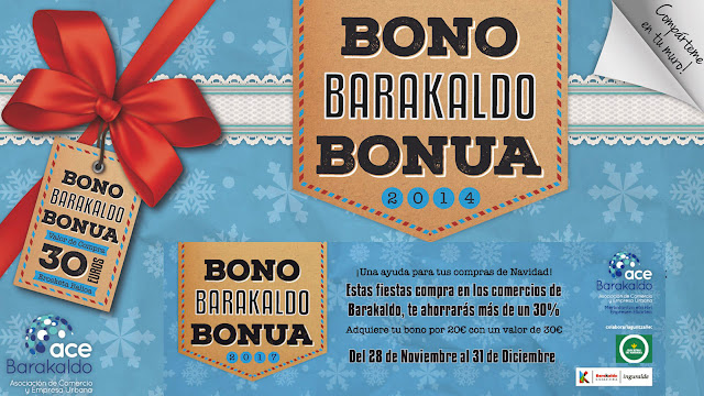 Cartel del bono navideño de ACE Barakaldo