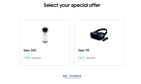 Free Gear 360 and Gear VR with Galaxy Note 9 purchase