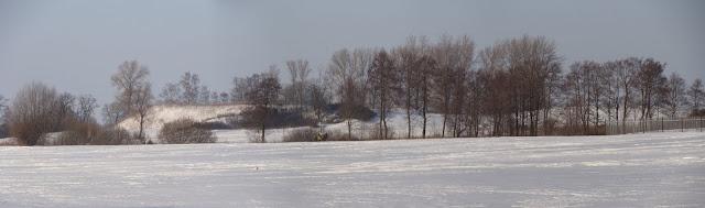 Panorama piastowskiego grodziska w Moraczewie