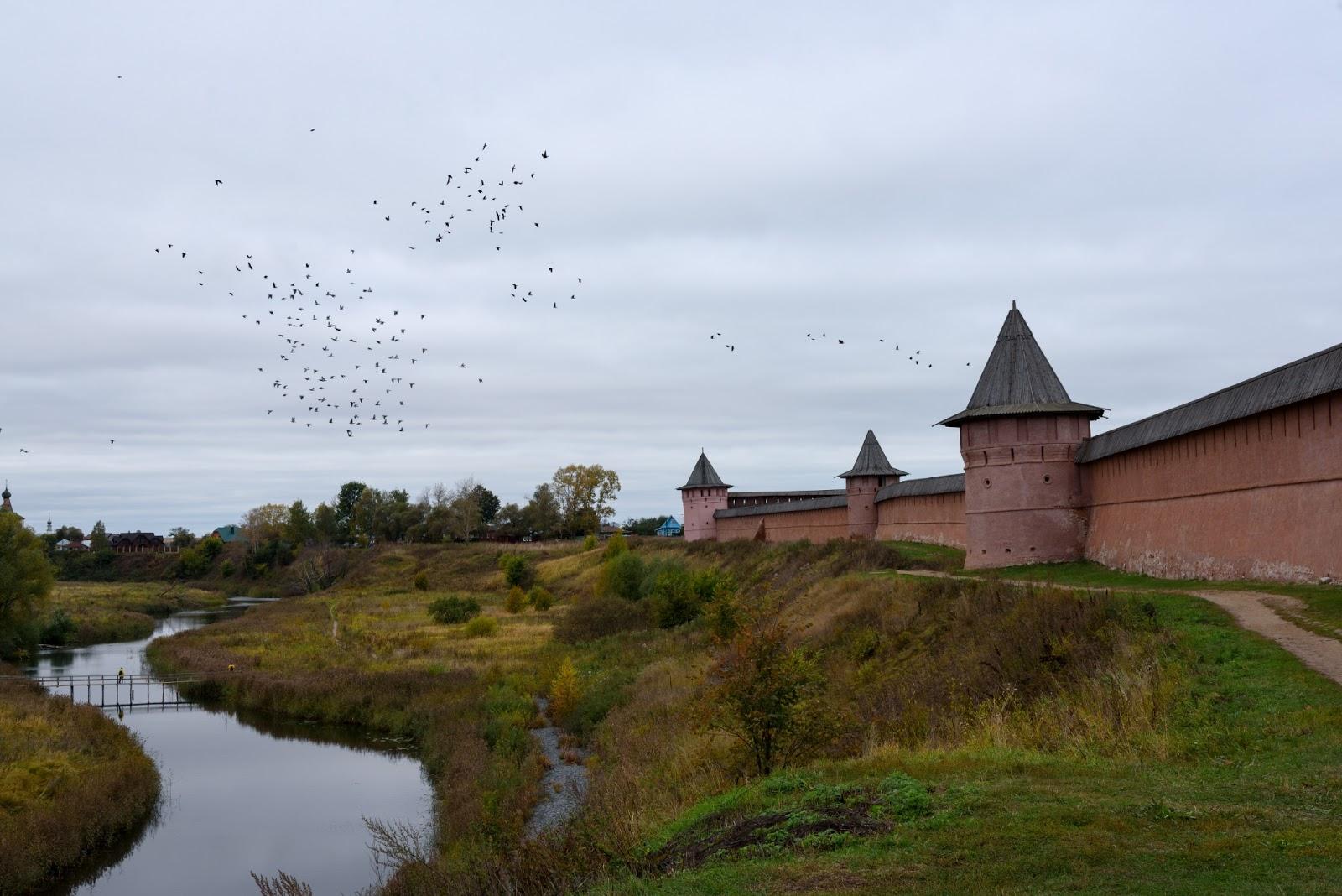 Крепость Преображенского собора. Суздаль