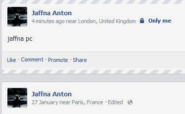 facebook status location
