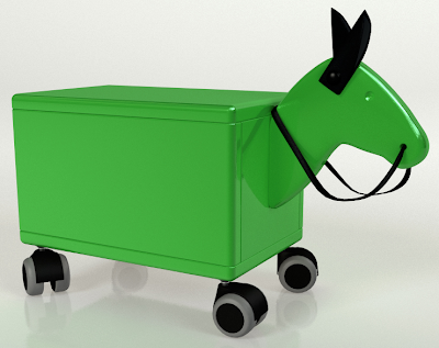 toyn box shaped like a horse