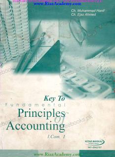 KEY Book of Principles of Accounting for I.COM 1