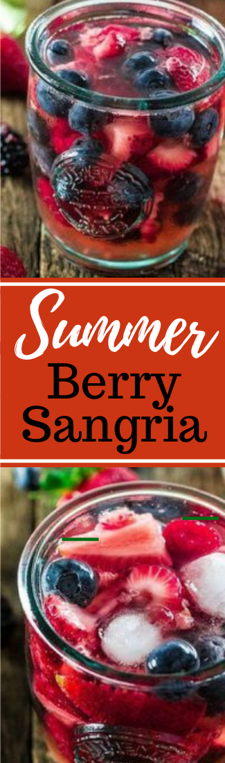 SUMMER BERRY SANGRIA  #cocktail