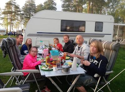 Premiärhelg på Kinnekulle camping