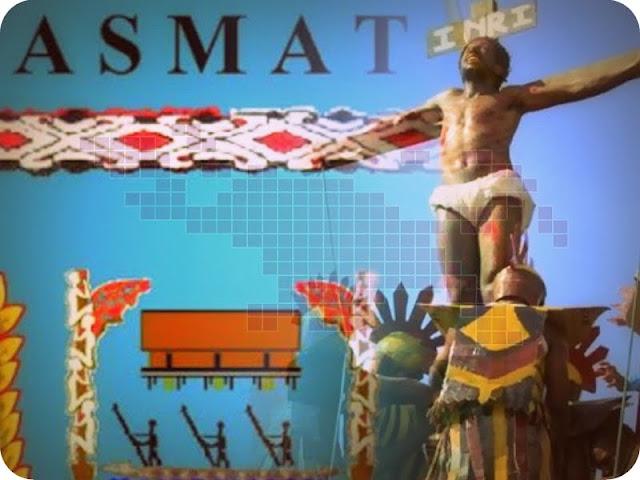 Umat Katolik di Asmat Kenang Kisah Sengsara Yesus Kristus