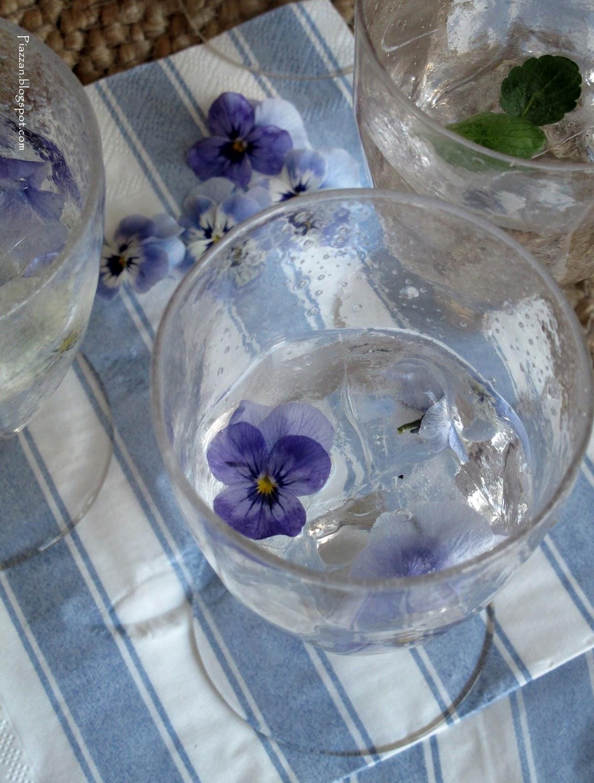 Piazzan: diy   vackra isbitar till sommarens glas på altanen