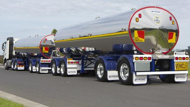 gambar mobil truk tanki gandeng