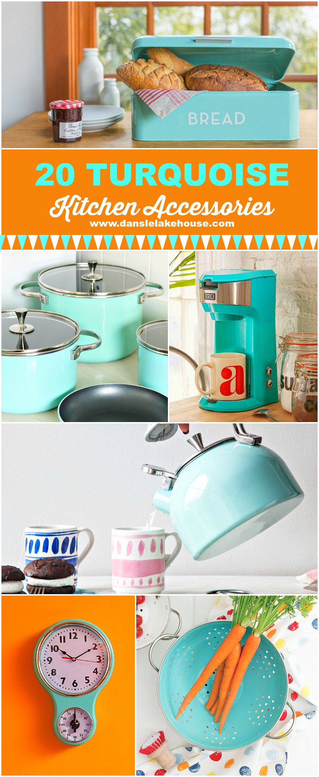 20 Gorgeous Turquoise Kitchen Accessories to Buy Right Now | www.danslelakehouse.com