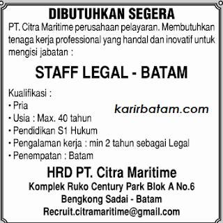 Lowongan Kerja PT. Citra Maritime