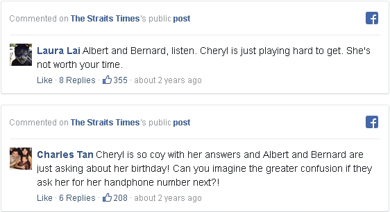 Screen grab on comments about The Straits Times' public post by Netizens.