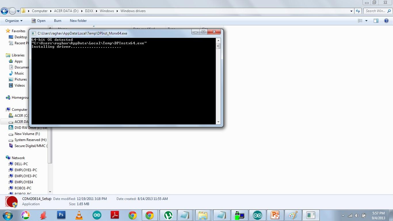 FTDI drivers installation | open source codes
