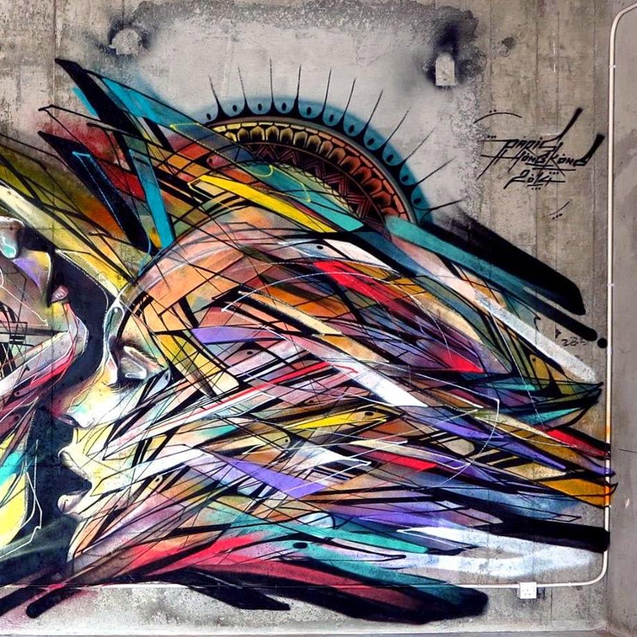 Hong Kong Art: Hopare New Mural - Hong-Kong, China