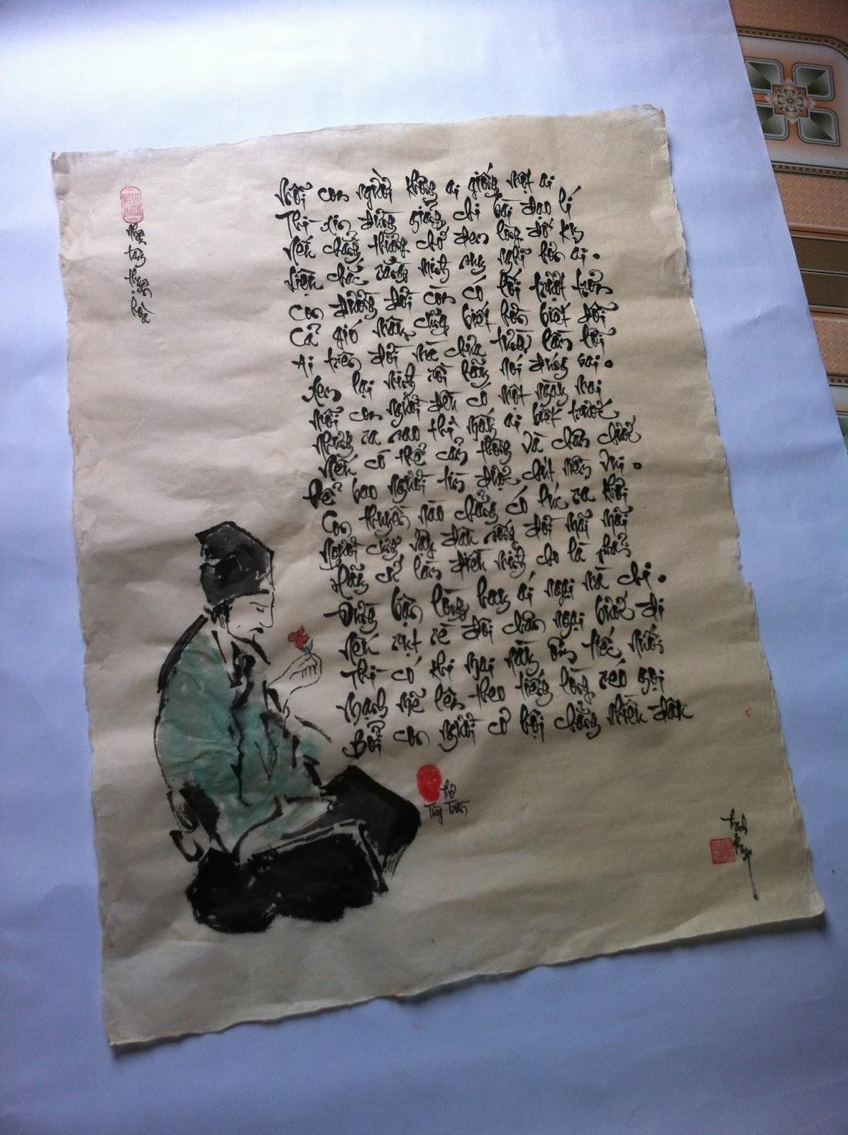 Dịch vụ viết thư pháp bằng tay 100% tại Quảng Ninh