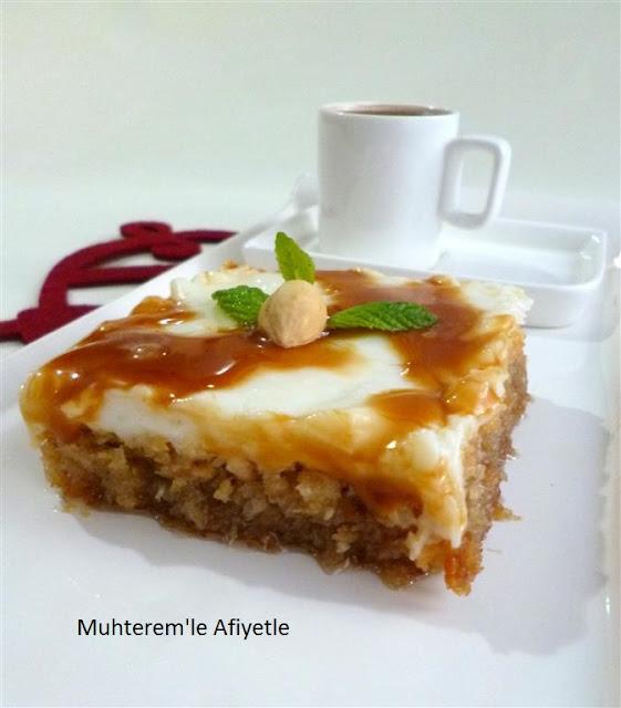 Fındıkzade tatlısı Türk kahvesi ile sunum