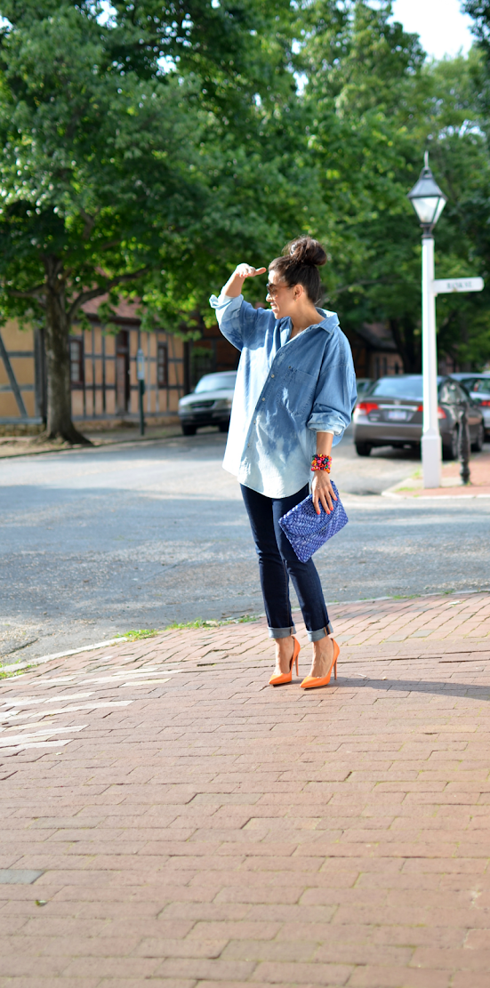 ALL DENIM OUTFIT STREET STYLE