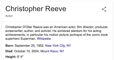 Image result for actor christopher reeve dies
