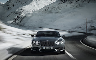 2013 Bentley Continental GT V8 front end in motion