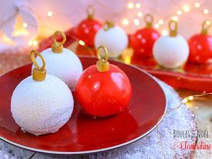 Entremets boules de Noël clémentine et cannelle