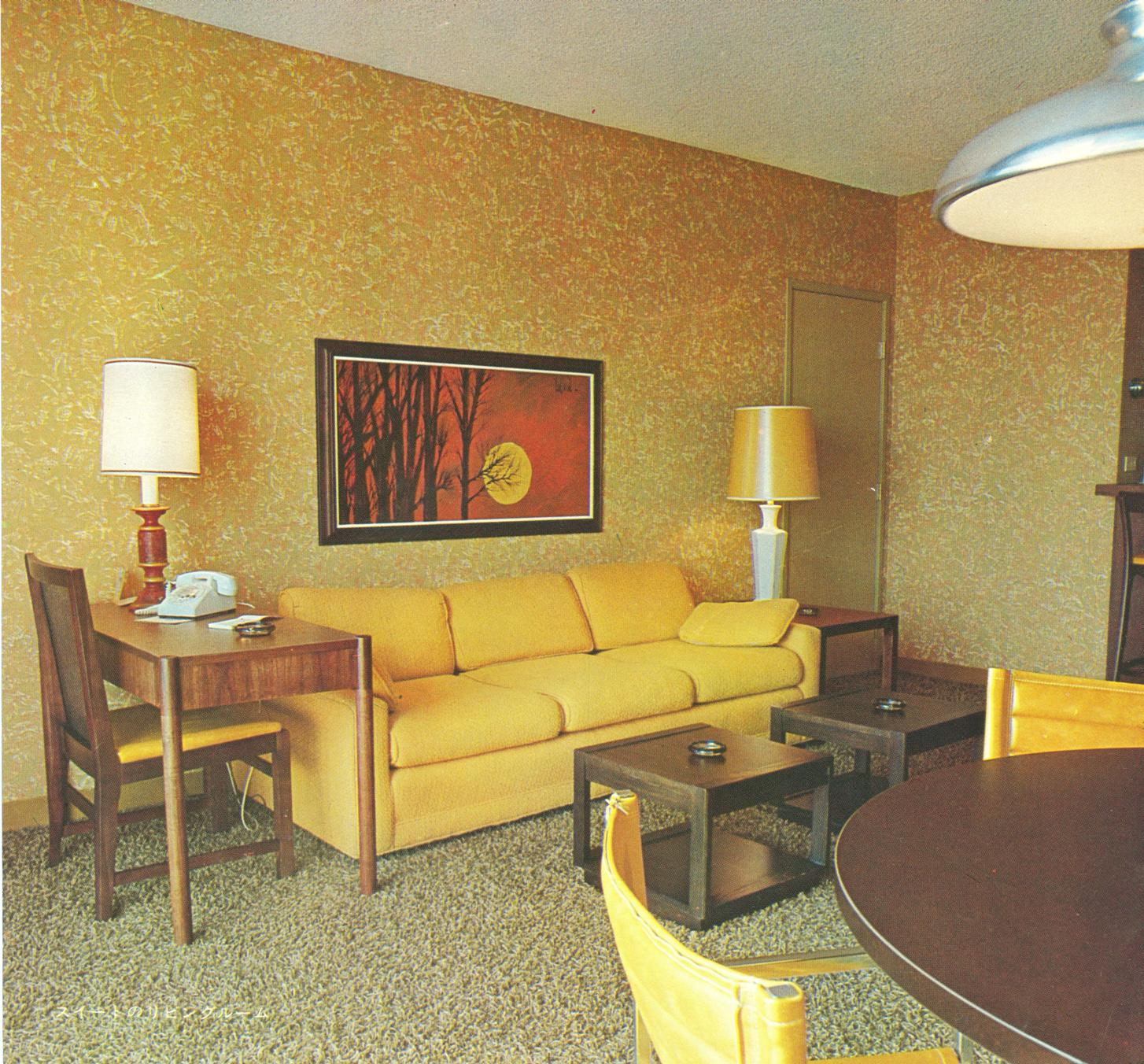 The original disneyland hotel early 70 39 s interiors for Hotel decor original