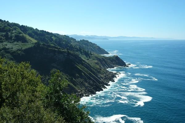 espagne pays basque san sebastian mont igeldo océan