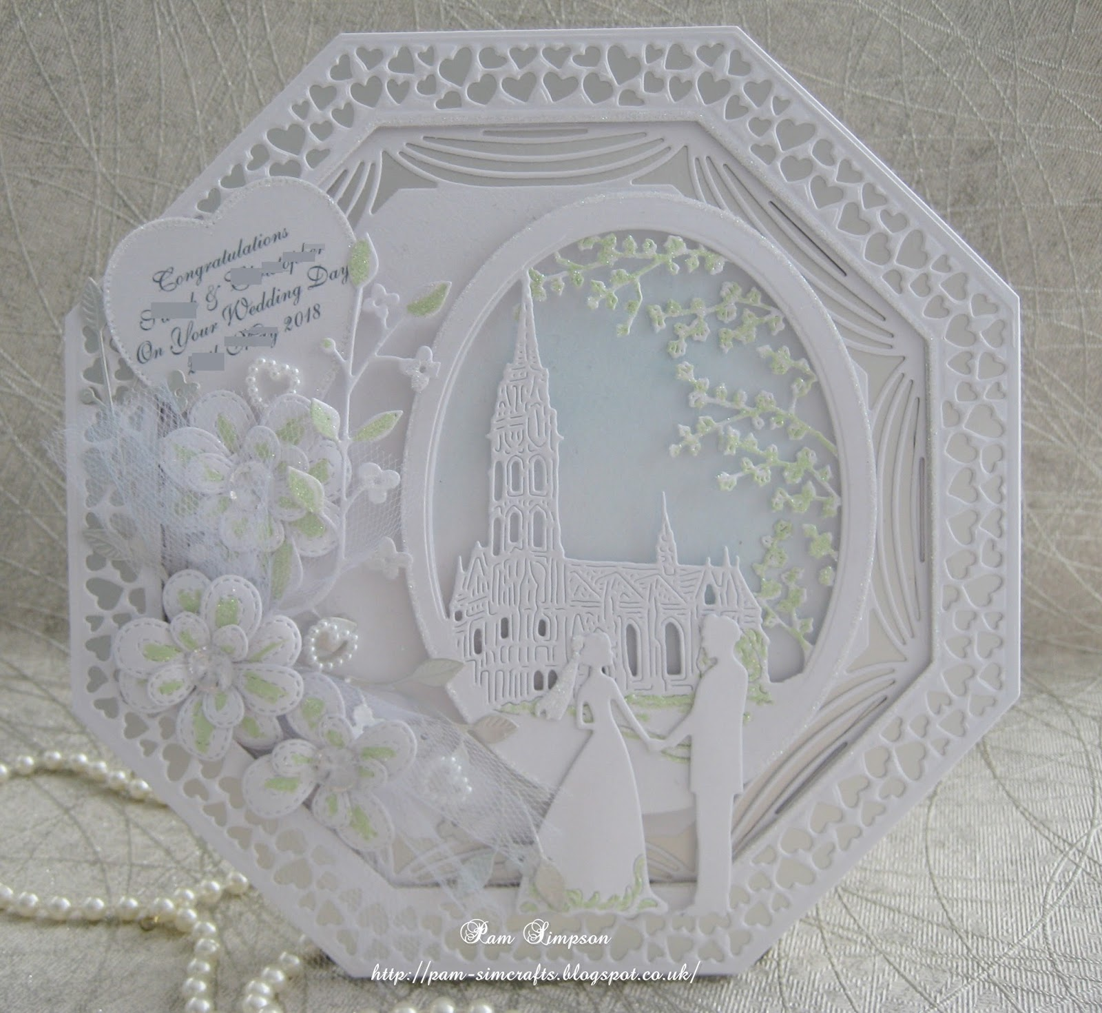 Pamscrafts Octagon Wedding Card