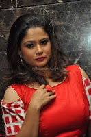 Shilpa Chakravarthy looks super cute in Red Frock style Dress 004.JPG
