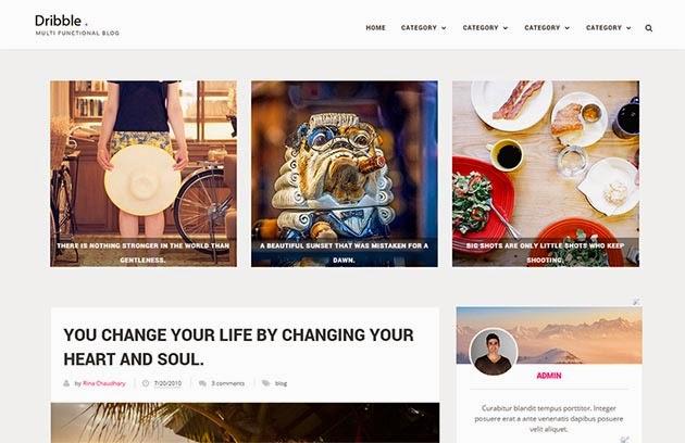 Demonstração Theme Dribble Clean e Resonsivo para Blogger 2018