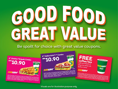 Subway Malaysia e-Coupon Discount Offer Promo