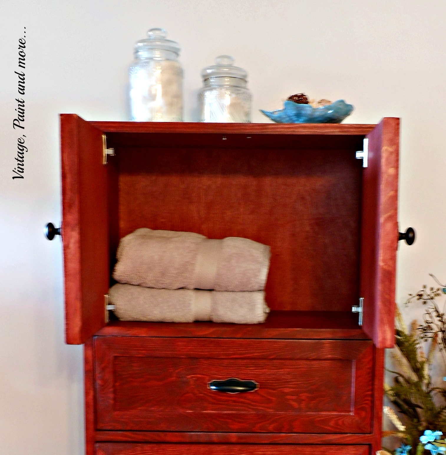 diy cabinet diy multipurpose cabinet vintage paint and more 14883