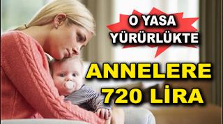 Devlet Desteği Annelere 720 lira verilecek
