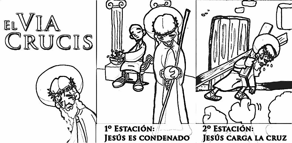 best Imagenes De Las Estaciones Del Viacrucis En Orden Para Colorear ...