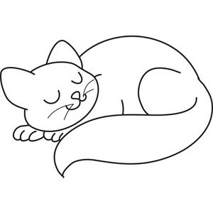 Cat Sleeping Ideas Coloring Book Print For Kids