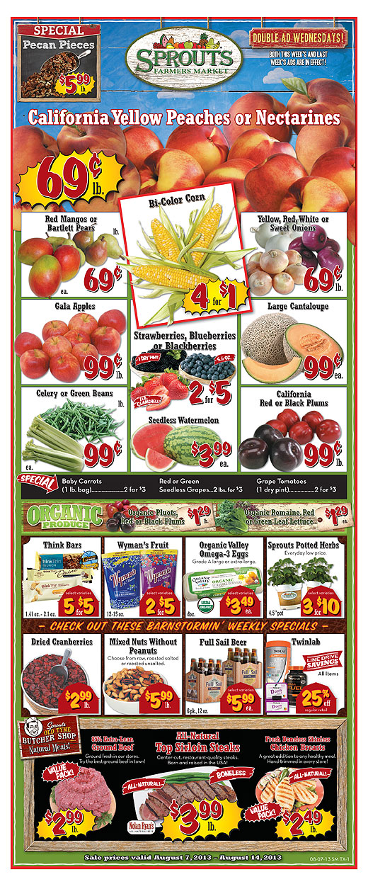 Melissa's Coupon Bargains: Sprouts Double Ad Wednesday 8/7