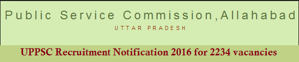 uppsc recruitment 2016