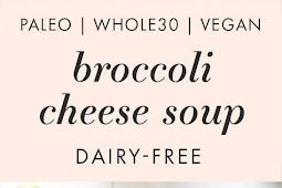Cheesy Vegan Broccoli Soup (Whole30, Paleo, Dairy Free)
