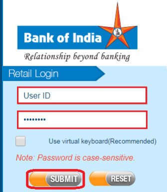 how to apply for cheque book in bank of india online