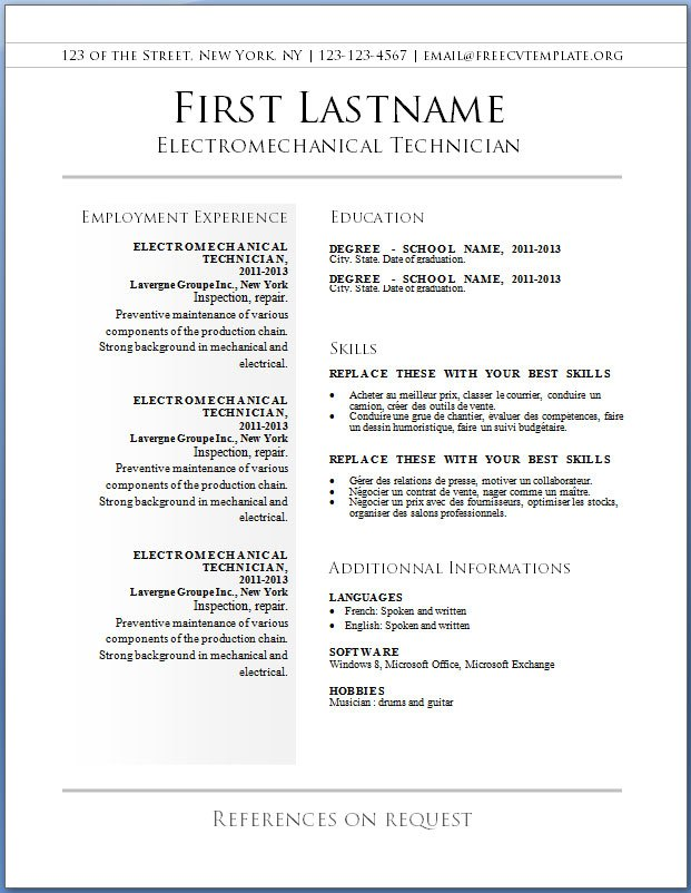 Free Resume Templates And Writing Ideas - A Place To Get Started