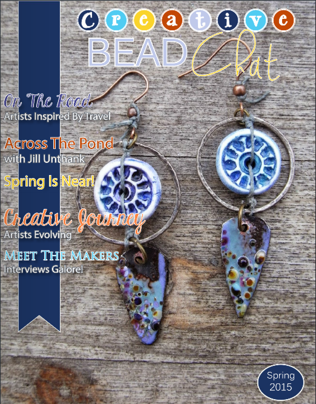 Cover - Spring 2015 issue, Bead Chat magazine