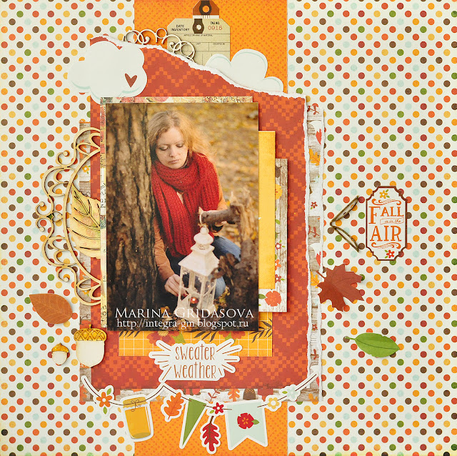 sweater weather | I-Kropka DT @akonitt #layout #by_marina_gridasova #ikropka #chipboard #echopark #scrapbooking