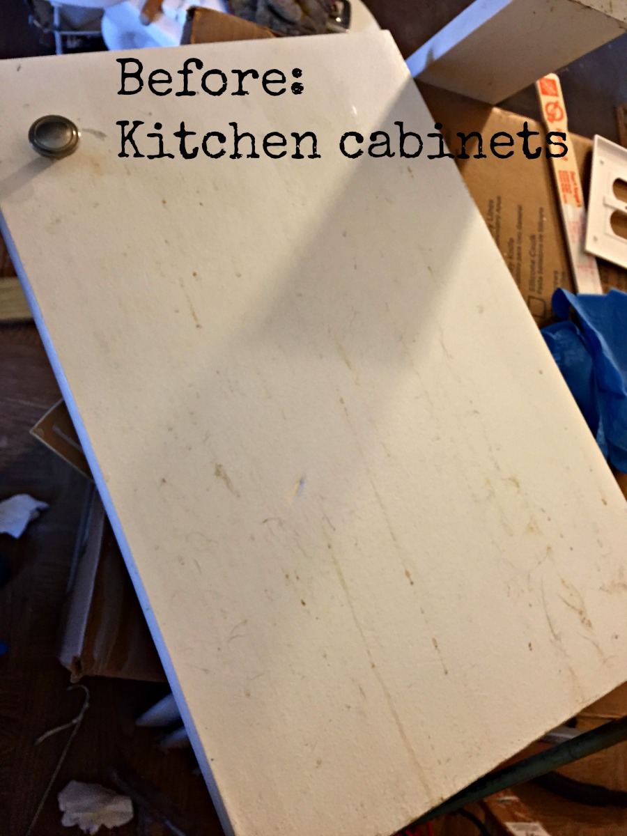 Filthy kitchen cabinets