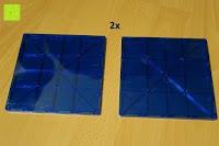 Quadrate groß: Playbees 100 Teile Magnetische Bausteine Set für 2D und 3D Form Konstruktionen, Regenbogenfarben Magnetspielzeug, Baukasten Magnetspiel, Magnetbausteine