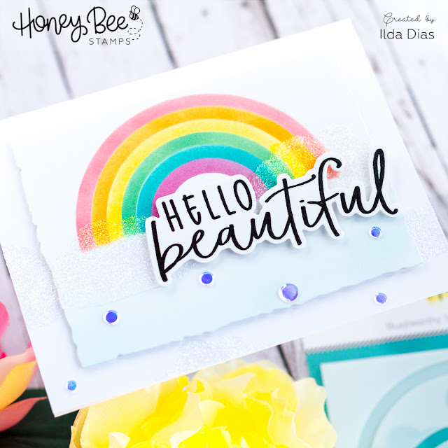 Hello Beautiful for Honey Bee Stamps Happy BEE Day Release Preview by ilovedoingallthingscrafty.com