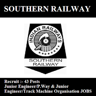 Southern Railway, SR, Tamil Nadu, TN, Indian Railway, RAILWAY, Railway, JE, Junior Engineer, Graduation, freejobalert, Sarkari Naukri, Latest Jobs, southern railway logo