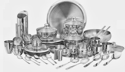 Great Deal: High Quality Stainless Steel Vinod 63Pc Premium Dinner Set worth Rs.7715 for Rs.5400 Only (Price Compared)
