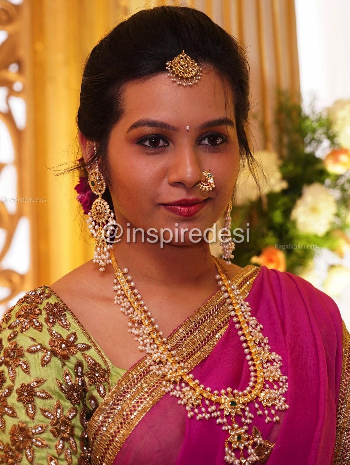 Indian Dresses Guttapusalu Necklace Set