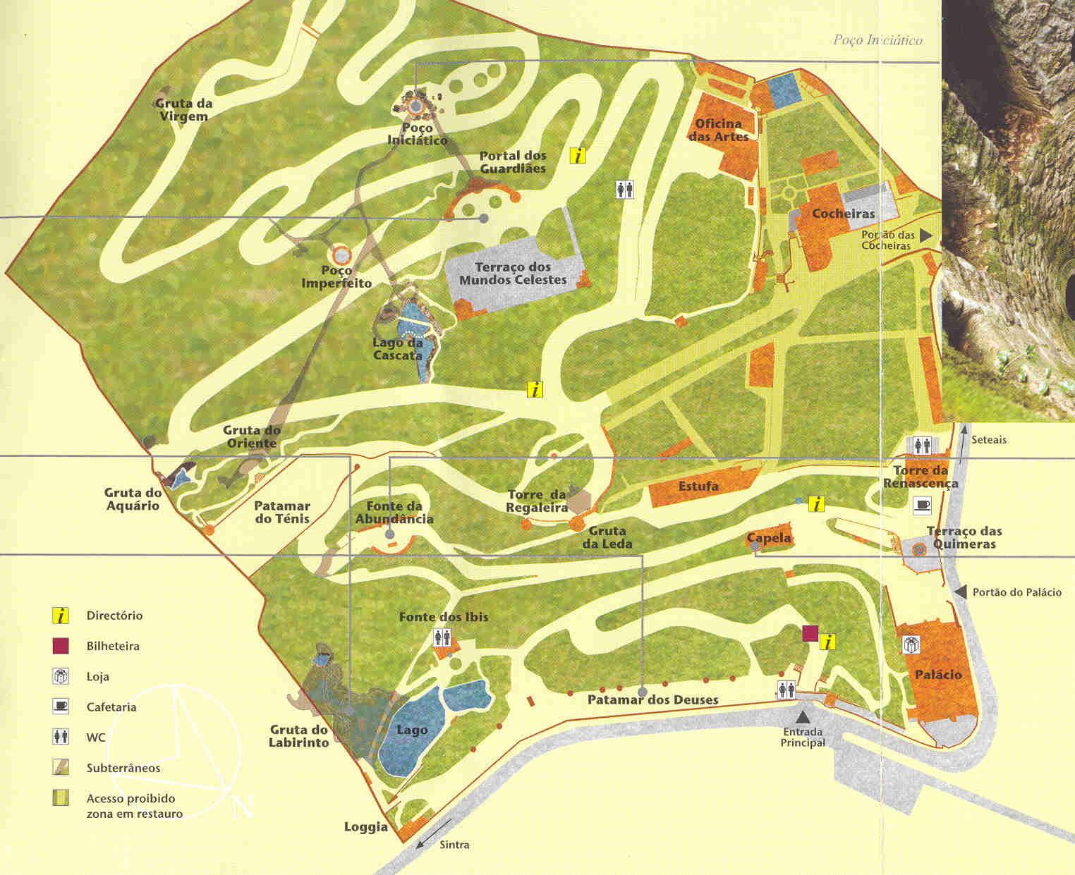 quinta da regaleira mapa História e Arquitetura: Palácio da Regaleira   Portugal quinta da regaleira mapa