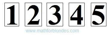 Преобразование цифр в числа. Математика для блондинок.